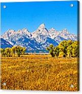 Tetons Autumn Panorama Acrylic Print