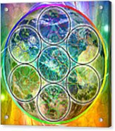 Tetra64 Polarity Earth Acrylic Print