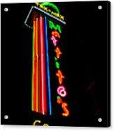 Tex Mex Cantina Neon Acrylic Print
