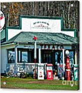 Texaco Gas Station Acrylic Print