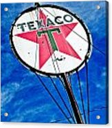 Texaco Gasoline Acrylic Print by Merrick Imagery