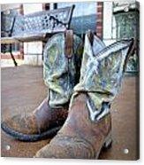Texan Cowboy Boots Acrylic Print