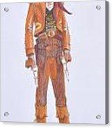 Texan Acrylic Print by Richard La Motte