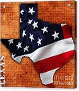 Texas American Flag Map Acrylic Print