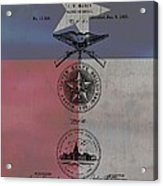 Texas Badge Patent On Texas Flag Acrylic Print