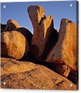Texas Canyon Golden Boulders Acrylic Print