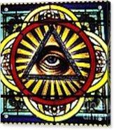 Eye Of Providence Texas Church Window Acrylic Print