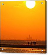 Texas City Sunset 2am-12561 Acrylic Print