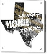 Texas Map Cool Acrylic Print