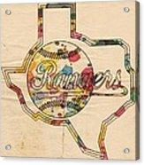 Texas Rangers Logo Vintage Acrylic Print