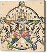 Texas Rangers Poster Art Acrylic Print