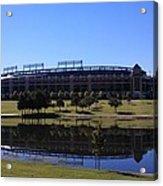 Texas Rangers Reflection Acrylic Print