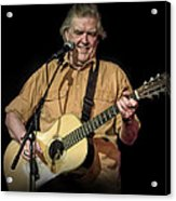 Texas Singer Songwriter Guy Clark In Concert Acrylic Print