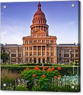 Texas State Capitol Summer Morning - Austin Texas Acrylic Print