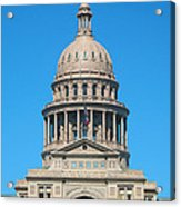 Texas State Capitol With Six Flags Acrylic Print