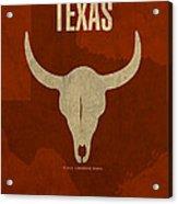 Texas State Facts Minimalist Movie Poster Art  Acrylic Print