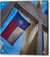 Texas State Flag Downtown Dallas Acrylic Print