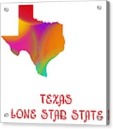 Texas State Map Collection 2 Acrylic Print