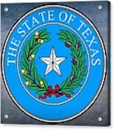 Texas State Seal Acrylic Print