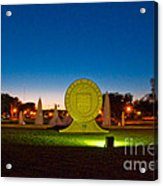 Texas Tech Seal At Night Acrylic Print