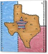 Texas Tried And True Red White And Blue Star Acrylic Print