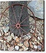 Texas Wagon Wheel Acrylic Print