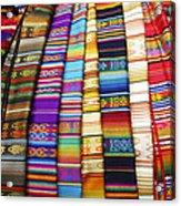 Textile Market Otavalo Ecuador Acrylic Print