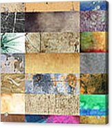 Texture Collage Acrylic Print