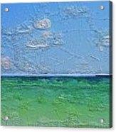 Textured Beach Series 1 Of 2 Acrylic Print