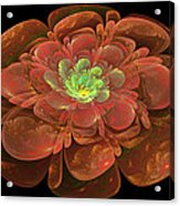 Textured Bloom Acrylic Print by Sandy Keeton