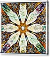 Textured Flower Kaleidoscope Triptych Acrylic Print