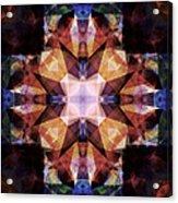 Textured Geometric Mandala Acrylic Print
