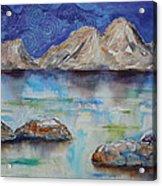 Textured Lakescape Acrylic Print