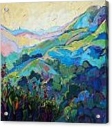 Textured Light Acrylic Print by Erin Hanson