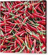 Thai Chili Peppers Background Acrylic Print