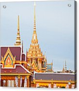 Thai Construction Design. Acrylic Print by Vachiraphan Phangphan