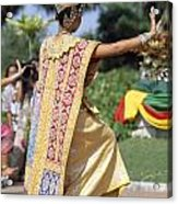 Thai Dancer At Loy Krathong Festival Acrylic Print