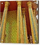 Thai-kmer Pagoda Columns At Grand Palace Of Thailand In Bangkok Acrylic Print