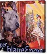 Thai Ridgeback Art Canvas Print - Der Blaue Engel Movie Poster Acrylic Print