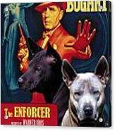 Thai Ridgeback Art Canvas Print - The Enforcer Movie Poster Acrylic Print