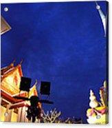 Thai Temple Sunset Acrylic Print
