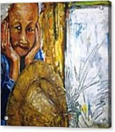 Thai Woman Acrylic Print by Doris Cohen