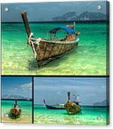 Thailand Longboats Acrylic Print