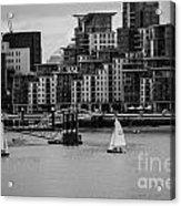 Thames Sailing Acrylic Print