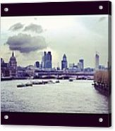 Thames View Acrylic Print by Maeve O Connell