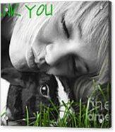 Thank You Bunny-card Acrylic Print
