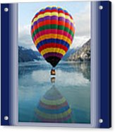 Thank You Hot Air Balloon In Alaska Acrylic Print