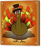 Thanksgiving Turkey Pilgrim Acrylic Print