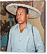 Tharu Chitwan National Park Naturalist In Tharu Village In Nepal  Acrylic Print