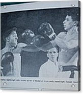 That Me Fighting Erving Nard In 1954 Acrylic Print